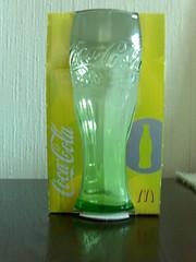 Coca Cola Glas von McDonald's (in Gelb)