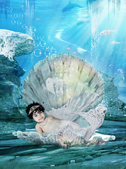 Mylamermaid (mylaphotography) Tags: ocean art fairytale digitalart bubbles cinema4d fantasy seashell mermaid underthesea rahi childphotography jaber seafloor fishtale mylaphotography michiganstudiophotography fairytalephotography