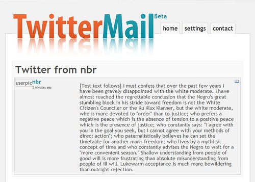 twittermail screenshot