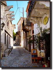 Picturesque street at Halki (jesssie) Tags: village aegean greece greekislands cyclades halki ellas