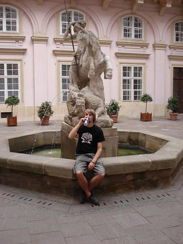 Bratislava Altstadt und ich mit Bier