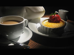 Answering My Own Question (blonde_sage) Tags: coffee dessert searchthebest naturallight restaraunt tabletop crèmebrûlée superbmasterpiece
