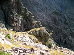 Vire du Tafonatu à son extrémité Sud côté Silvastriccia