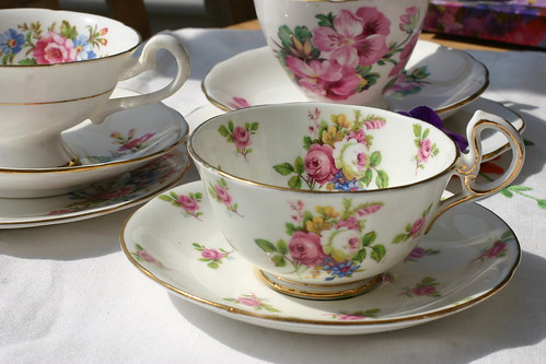 Pretty China Teacups & Saucers