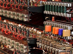 Inside the Bombe (georg.schmidt) Tags: uk greatbritain london enigma wires inside circuits relay alanturing resistors turing bletchleypark stationx turingbombe cryptograpy thebombe