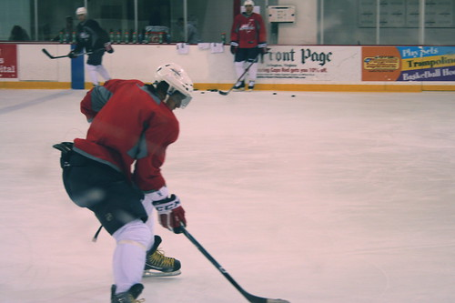 10/20/10: Ovechkin skates by in a drill
