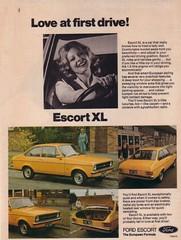 1977 Ford Mk2 Escort XL Ad