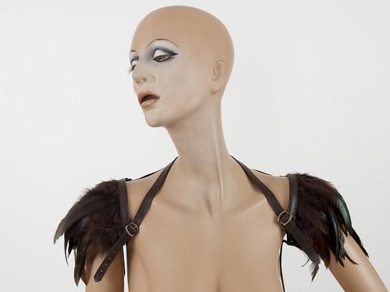 ETSY feather shoulder harness by MetamorphDK 6