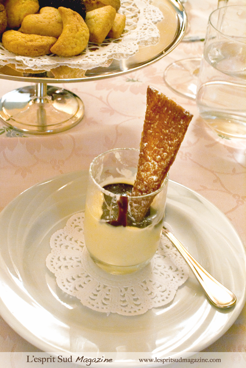 Panna Cotta with fresh biscotti