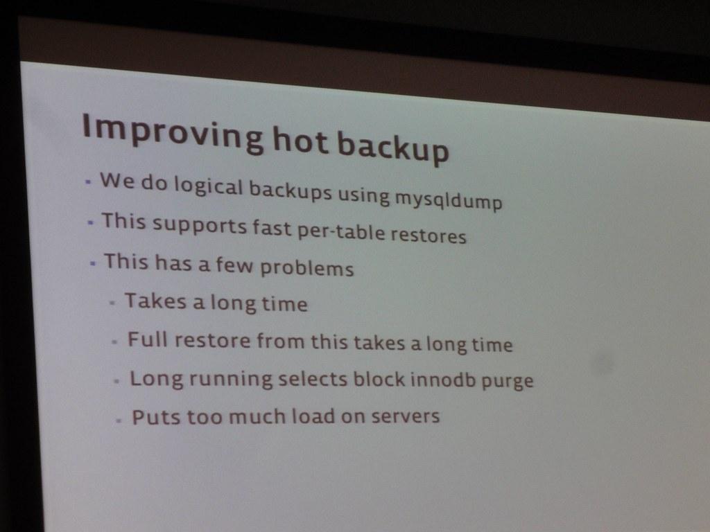 Facebook MySQL Backups 1