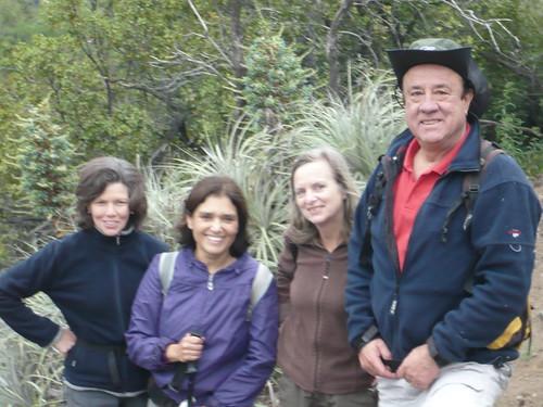 Consuelo, Verónica, Rebeca y Pancho