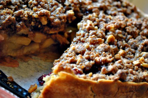Deep-Dish Winter Fruit Pie with Walnut Crumb | Full Fork Ahead