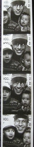 the kids with Dad, Hogle Zoo, 1997