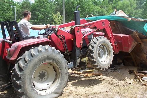 Tractor backhoe compact thumb