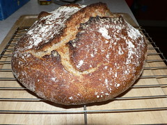 Home-made sourdough bread