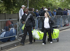 Queuing for Wimbledon tickets