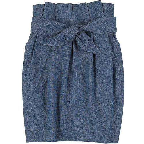 3.1 Philip Lim - Denim tulip skirt by elorahouse.