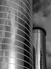 Enron Again (bill barfield) Tags: bw building glass architecture skyscraper downtown texas houston enron houstonist