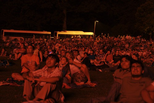 The Crowd Watches the Fireworks