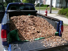 Mulch in truck