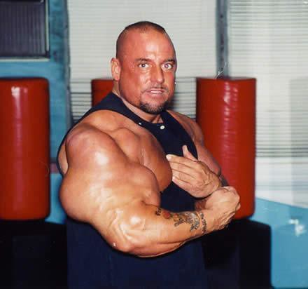 mans arms explode from steroids