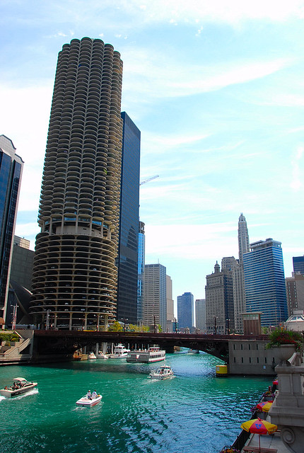 Chicago river and Marina City