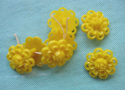 yellow flower buttons