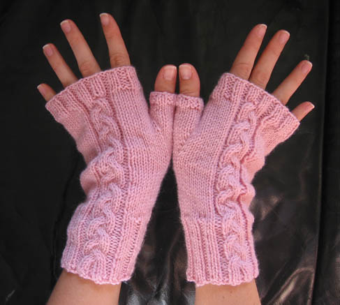Ravelry Cabled Fingerless Gloves Pattern By Kimberly Gintar