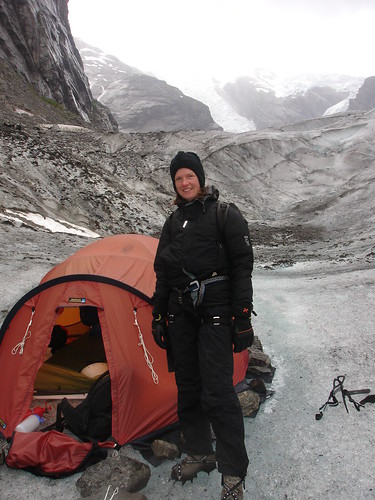 Ruth and her home on the glacier