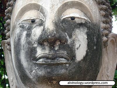 Sceptical Buddha with bad tan