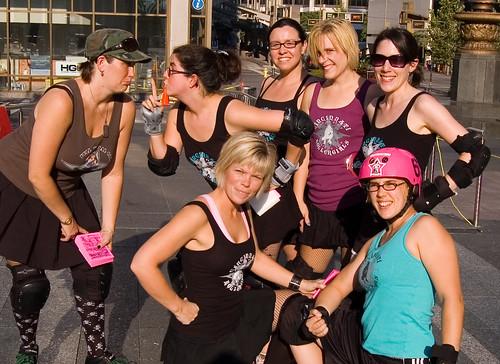 Cincinnati Rollergirls at Fountain Square
