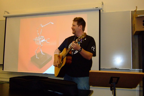 Chris Brogan Playing Guitar @ Podcamp Pittsburgh