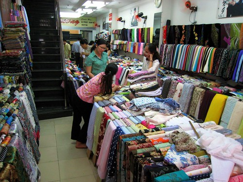 The fabric store where we bought the fabric for my ao dai