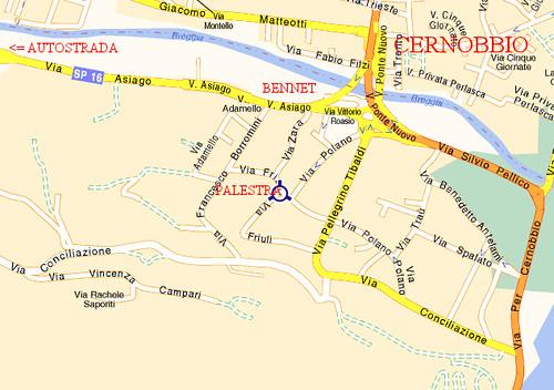 Cartina Palestra