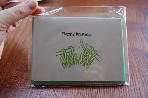 Knitting notecards
