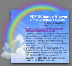 Fig. 1 - PDF XChange Viewer - Spash screen
