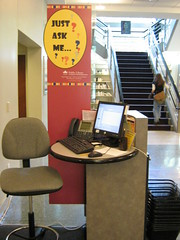 JAM - Just ask me greeter desk