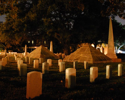 SA National Cemetery at Night