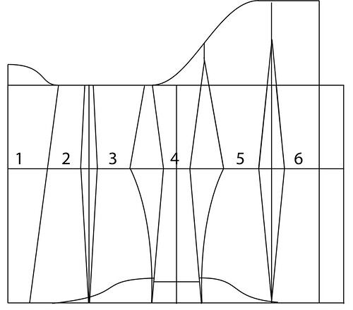 Underbust corset pattern - 34