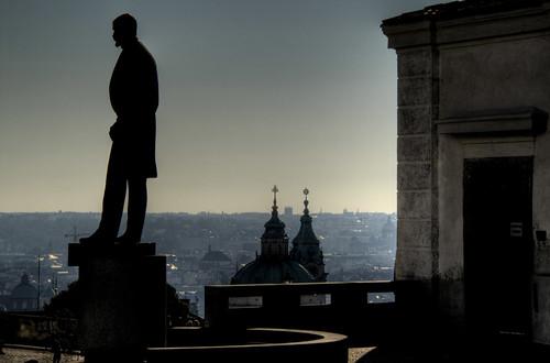 Masaryk statue. Prague. Estatua de Masaryk. Praga