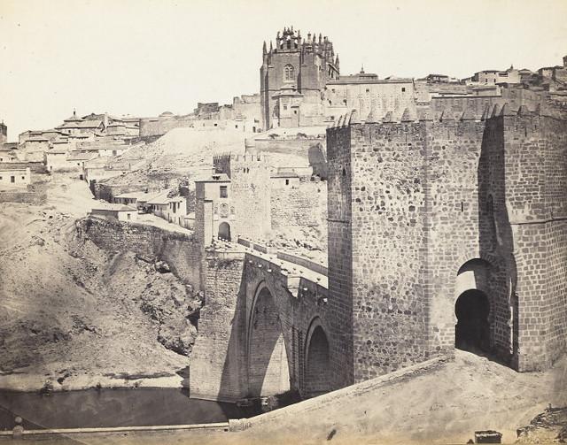 Puente de San Martín en 1864. Fotografía de Jean Laurent