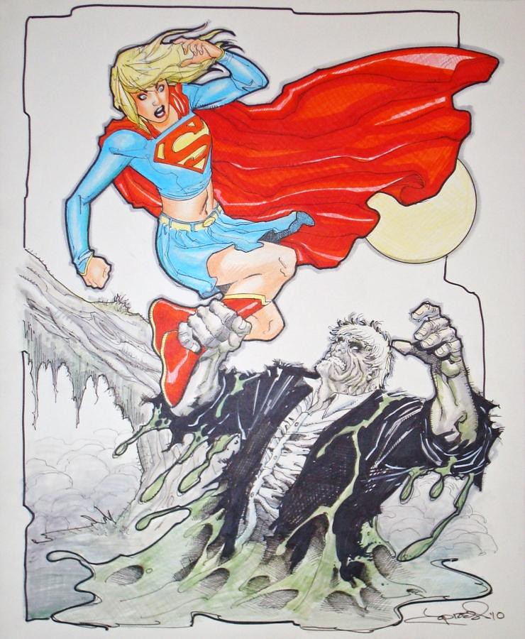 Solomon Grundy attack Supergirl