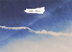 Seize the day. (mia uhac) Tags: sky clouds airplane typography text typo carpediem seizetheday