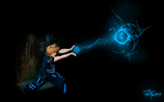 Hadouken!! (Paul Fessey) Tags: lighting camera blue anime umbrella paul photography nikon shoot flash off through thru d300 sb800 hadouken strobist fessey