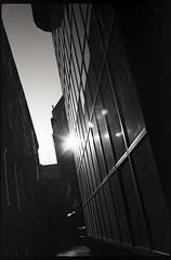 Oct/tp/rf/01 (OverdeaR [donkey's talking monkey's nodding]) Tags: street bw sun film 35mm reflections shadows kodak low serbia scan stuff electro noon 40mm belgrade 35 tp yashica mid beograd srbija gx f17 yashinon 2415 autaut 100ei
