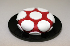First Fondant Cake! (mandrake68) Tags: red white mushroom cake mario dot polkadot fondant