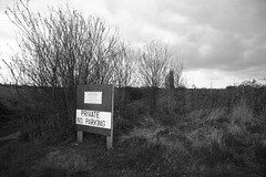 Sign of the Times: warning CCTV (rhpbuck) Tags: england bw grass landscape surveillance cctv privateproperty howwearenow