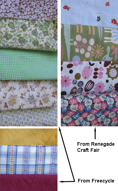 Fabric  from Freecycle and Renegade Fair NYC