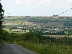 Descent into Cerne Abbas