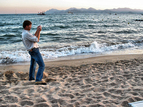 Cannes - Photographing the sunset